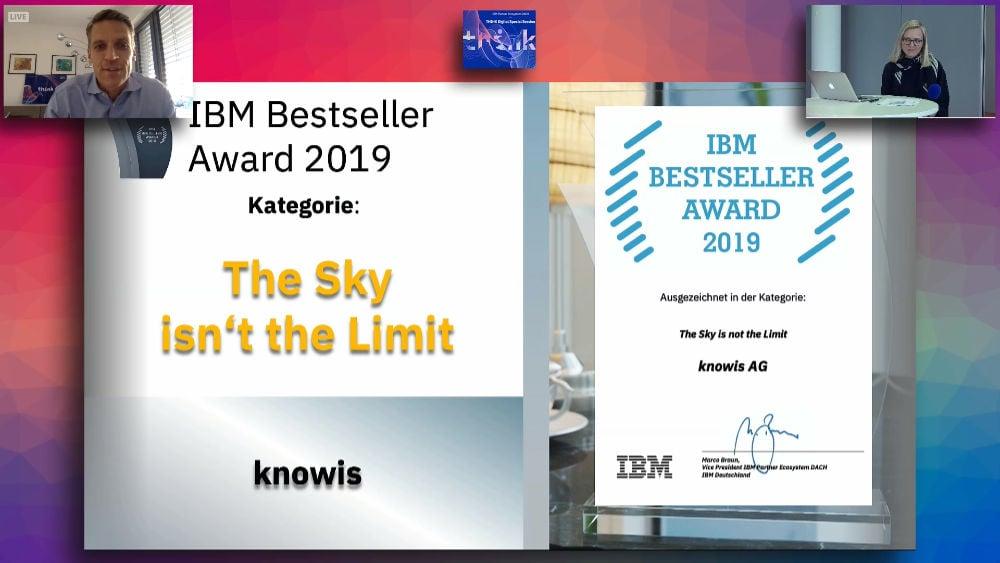 IBM Bestseller Award - knowis - Partner Ecosystem DACH - 2020